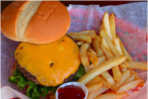 Cheeseburger & Side - delivery menu