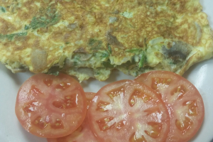 Spinach, Mushroom and Cheese Omelet Plate - delivery menu