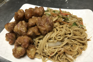 44. Spare Ribs with Fresh Garlic Sauce Fried Hand Pull Noodle - delivery menu