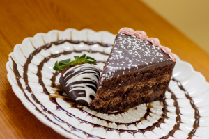 Chocolate Ganache Cake Slice - delivery menu