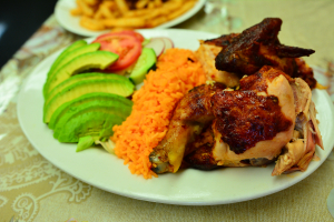 1/2 Chicken with Rice and Salad - delivery menu