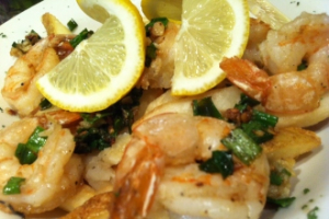 106. Camarao ao Alho, Oleo and Batata Frita - delivery menu