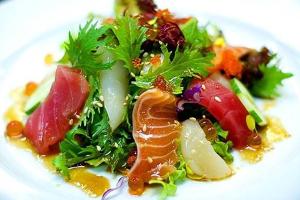 Mixed Sashimi Salad - delivery menu