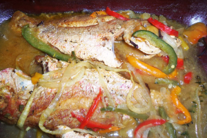 Brown Stew Red Snapper - delivery menu
