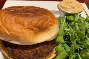 Falafel Burger with Hummus - delivery menu