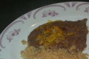 1/2 Rice and 1/2 Beans - delivery menu