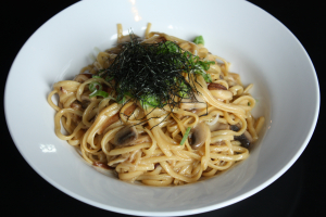 Shrimp and Shiitake Pasta - delivery menu