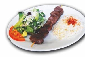 Lamb Kabob Plate - delivery menu