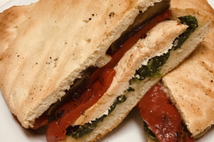 2. Grilled Chicken, Portobello Mushrooms, Roasted Red Peppers and Provolone Cheese Panini - delivery menu