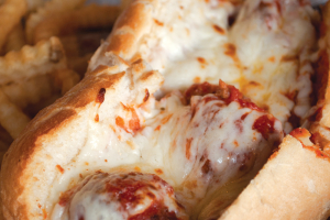 Meatball Parmigiana Sandwich - delivery menu