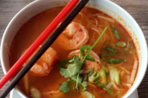 207. Tom Yum Shrimp Noodle Soup - delivery menu