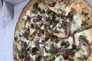 Chicken Alfredo Pizza - delivery menu