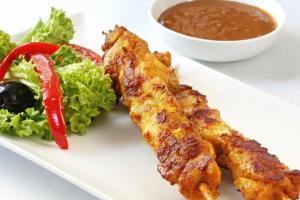 2 Satay Chicken Sticks - delivery menu