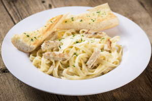Fettuccine Alfredo with Grilled Chicken - delivery menu