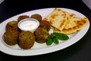 Falafel Balls with Tzatziki & Pita - delivery menu