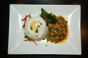 SN6. Gra Prow Gai with Fried Egg Dinner Special - delivery menu