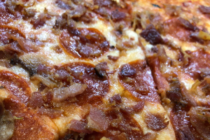 Pepperoni & Bacon Slice - delivery menu