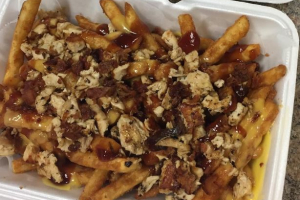 Chicken Bacon BBQ Fries - delivery menu