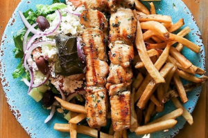 Chicken Souvlaki Platter - delivery menu