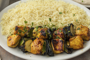 Chicken Kabob Plate - delivery menu