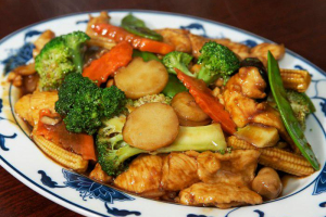 C6. Chicken with Mixed Vegetables Combo - delivery menu