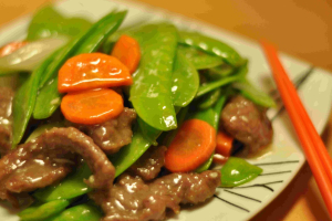 105. Beef with Snow Peas - delivery menu