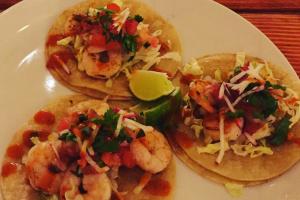 3 Shrimp Tacos - delivery menu