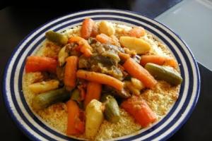 Moroccan Couscous Platter  - delivery menu