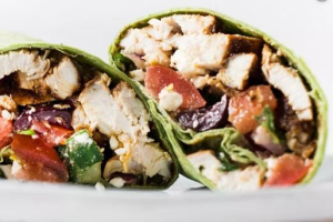 Mediterranean Open Wrap - delivery menu