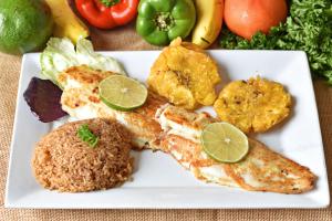 Filete de Pescado con arroz de coco - delivery menu