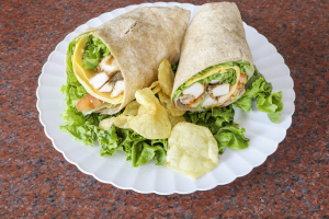 1W. Chicken Caesar Wrap - delivery menu