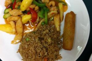 A3. Mango Chicken Platter - delivery menu