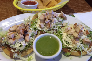 Grilled Cajun Chicken Sopes - delivery menu