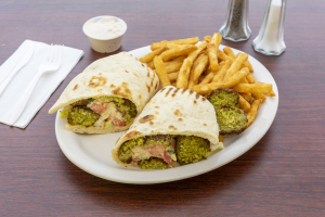 Falafel on Pita with French Fries - delivery menu