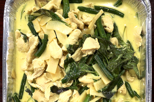 Green Curry Tray - delivery menu