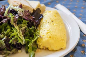 Omelette Parisienne, Salad Verte - delivery menu