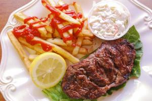 NY Strip Steak Platter (10 oz.) - delivery menu