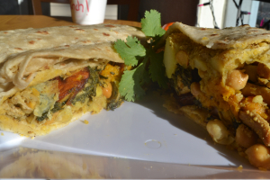 Veggie Roti Wrap - delivery menu