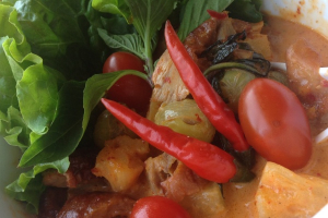 Roast Duck with Red Curry - delivery menu