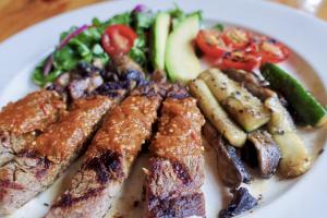 Grilled Rib-eye steak  - delivery menu