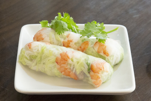 1A. Spring Rolls with Shrimp and Pork ( 2 Rolls) - delivery menu