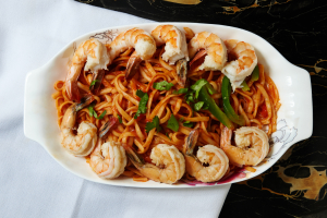 63. Shrimp Spaghetti - delivery menu