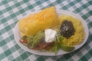 #1. Chipotle Chicken Chimichanga with Side Rice and Beans - delivery menu