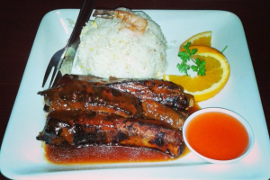 BBQ Pork Spareribs Dinner - delivery menu