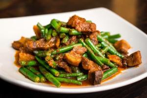 Crispy Pork Belly Prik Khing - delivery menu