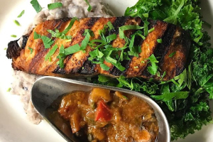 Salmon Provencal - delivery menu