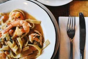 Shrimp Fettuccine - delivery menu