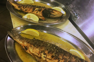 Grilled Whole Bronzino/Bass - delivery menu
