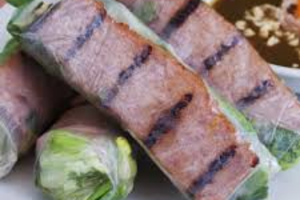 A2. Two Grilled Pork Summer Rolls (2) - delivery menu