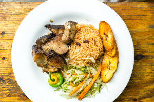 Jerk Pork Meal - delivery menu